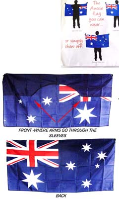 Aussie flag wearable cape