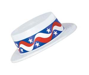 STARS AND STRIPES BOATER HAT