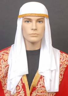 ARABIAN NIGHTS WHITE SCARF & HAT