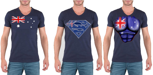 AUSTRALIAN BLUE T-SHIRT IN ASSORTED DESIGNS