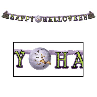 HAPPY HALLOWEEN SCARY FUN JOINTED BANNER