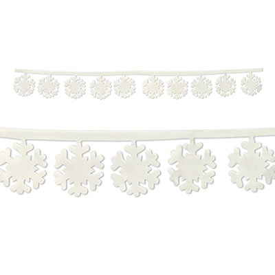 SNOWFLAKE FABRIC GARLAND