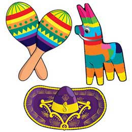 FIESTA CUT OUTS SET OF 3