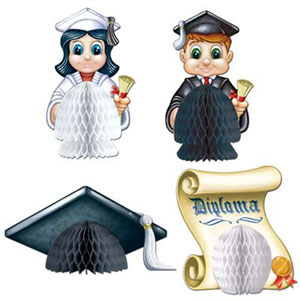 CENTREPIECE - MINI HONEYCOMB 4 PIECE GRADUATION SET