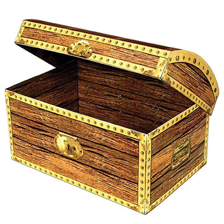 PIRATE TREASURE CHEST 3D CUTOUT