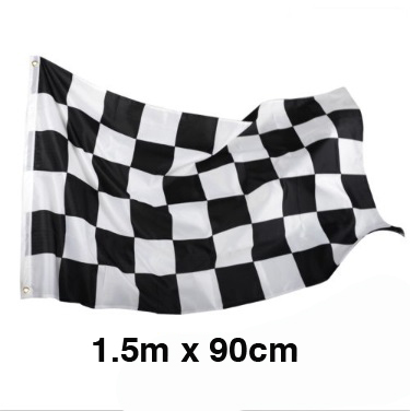 CHECKERED FLAG JUMBO SIZED FABRIC WITH GROMMETS