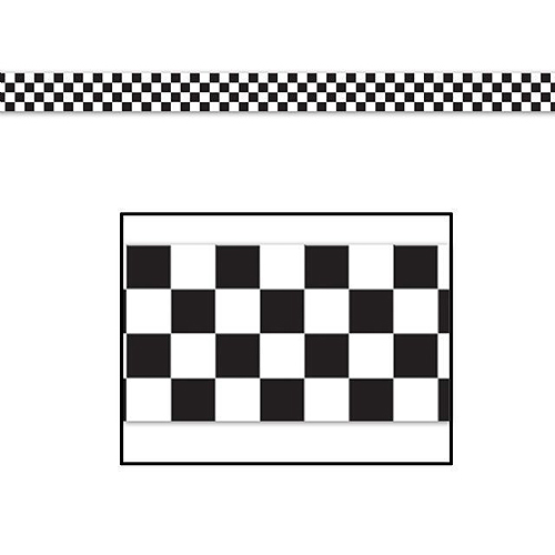CHECKERED FLAG DECORATING TAPE 15M