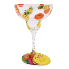 Image of Pineapple Margarita Individually Boxed Glass With Recipe