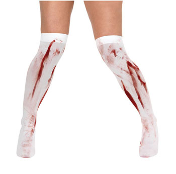 STOCKINGS - WHITE WITH BLOOD STAINS