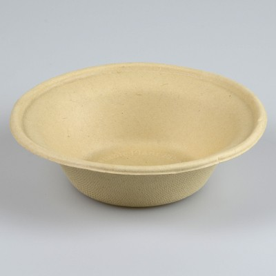 NATURAL ECO PLANT FIBRE PAPER BOWLS - PACK 50