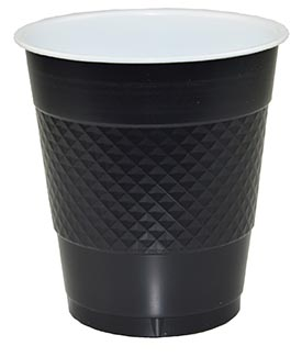 DISPOSABLE CUPS TWO TONE BLACK - PACK OF 20