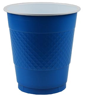 DISPOSABLE CUPS TWO TONE BLUE - PACK OF 20