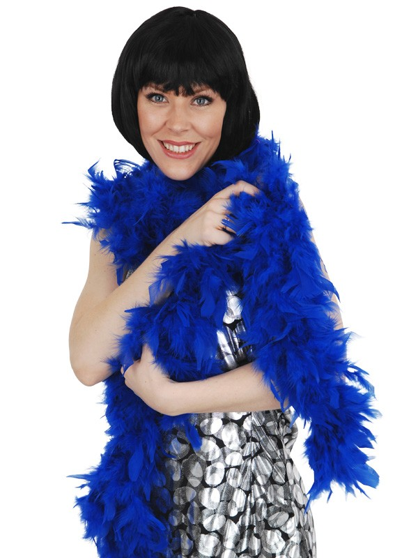 FEATHER BOA - PLUSH IN ELECTRIC BLUE