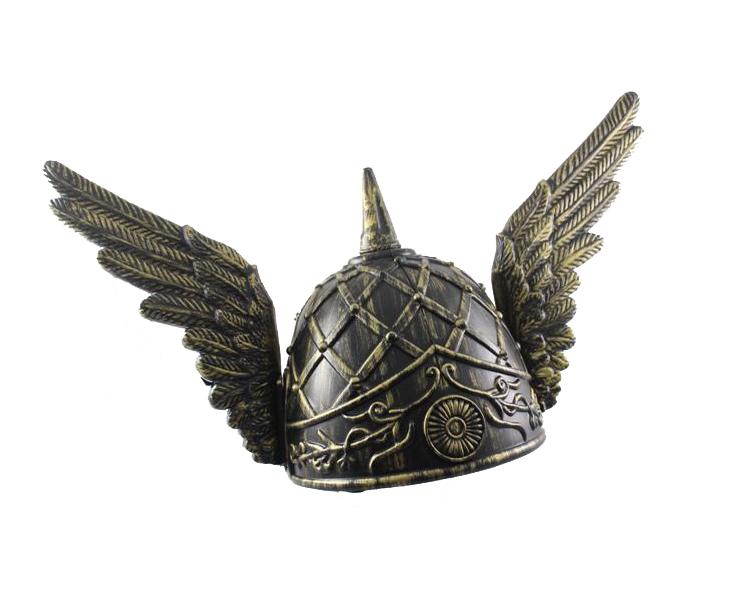 Image of Viking Helmet With Wings  Bronze Look