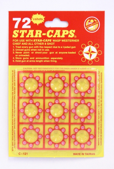 CAP GUN CAPS ROUND CARD OF 72