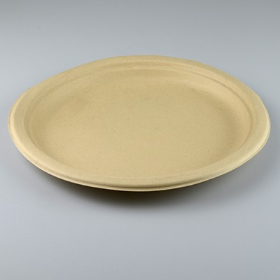 NATURAL ECO PLANT FIBRE PAPER LARGE DINNER PLATES 26CM - PACK 50