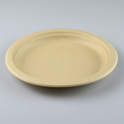 NATURAL ECO PLANT FIBRE PAPER SIDE PLATES 18CM - PACK 50