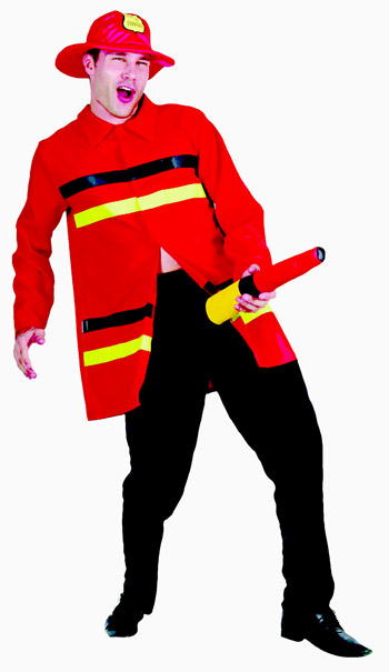 FUNNY FIREFIGHTER ADULT COSTUME