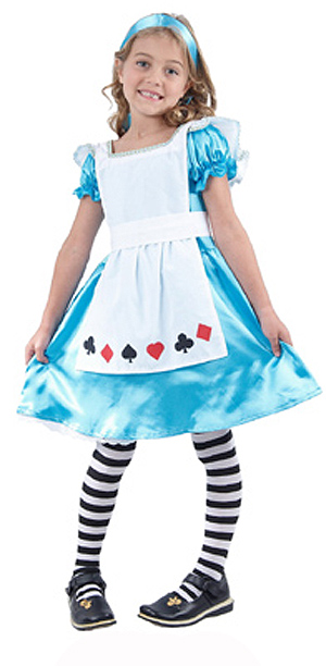 ALICE THROUGH THE LOOKING GLASS CHILD\'S COSTUME - LARGE