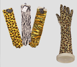 ANIMAL PRINT ARM GLOVES