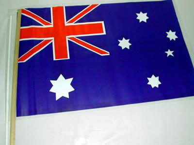 AUSTRALIAN FLAG - HAND HELD CLOTH MEDIUM