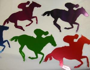 LARGE FOILBOARD RACE HORSE JOCKEY CUT OUTS PK 5 CLICK HERE