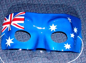 AUSTRALIAN FLAG EYE MASK