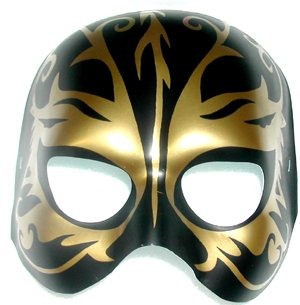 MASK - BLACK & GOLD FANTASY TATTOO MASK