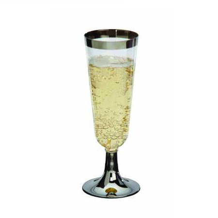 SILVER SERVICE GLASSES - CHAMPAGNE PACK 12
