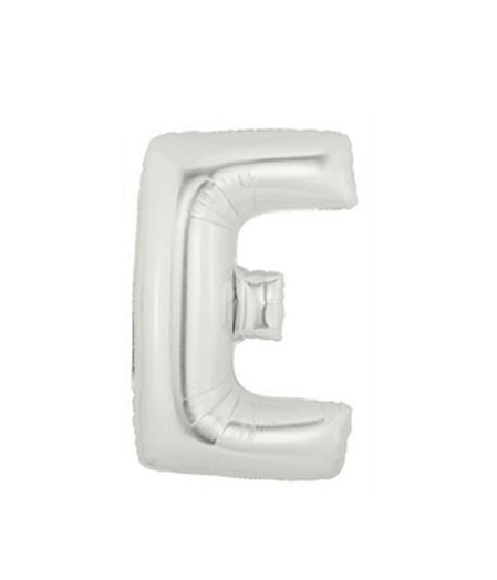 FOIL BALLOON SUPER SHAPE LETTER E - SILVER