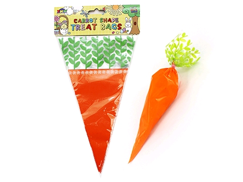 EASTER CARROT SHAPE TREAT CANDY BAGS - PACK OF 15