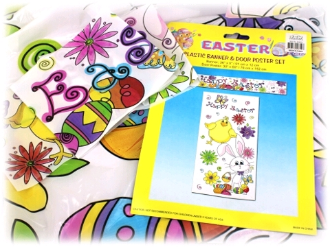 EASTER BANNER AND COVER SET