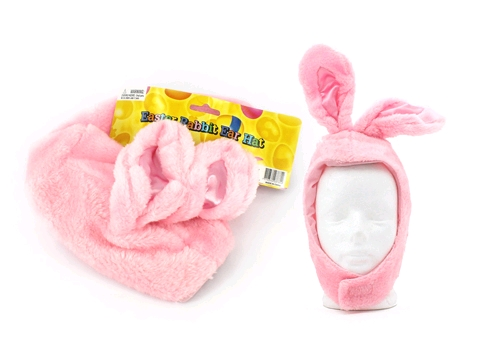 EASTER BUNNY PLUSH PINK RABBIT CHILDREN\'S HAT