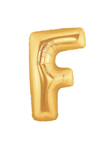 FOIL BALLOON SUPER SHAPE LETTER F - GOLD