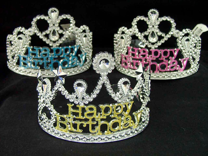 TIARA - SILVER WITH 'HAPPY BIRTHDAY'