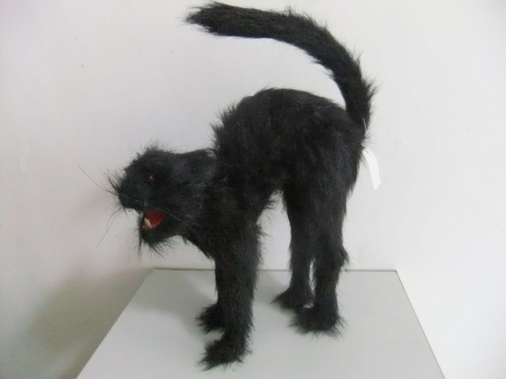 Black Scary Arched Back Hissing Cat - Lights  U0026 Sound - Party Supplies Online