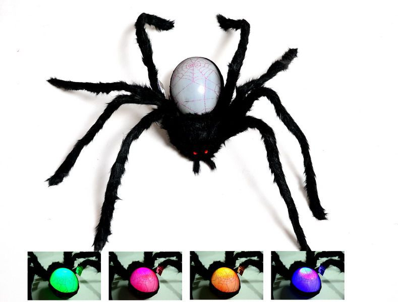 SPIDER - HUGE 1.4M LED LIGHT UP POSABLE SPIDER