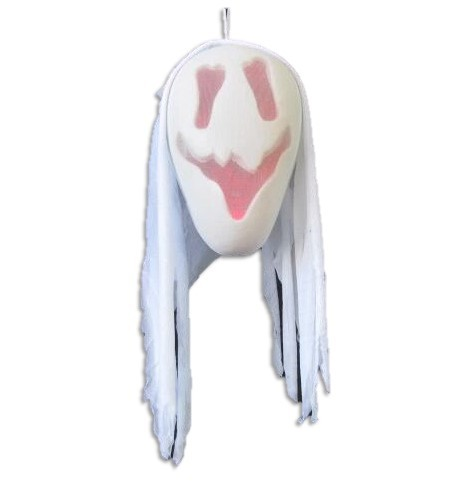 HALLOWEEN LIGHT UP COLOUR CHANGING GHOST HEAD