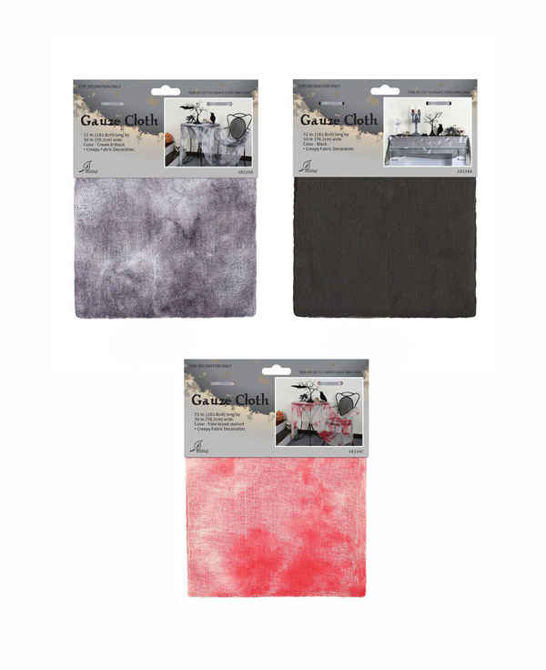 CREEPY THEME GAUZE FABRIC