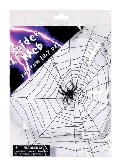 SPIDER WEB WITH SPIDER - SMALL 20GRAM PACK