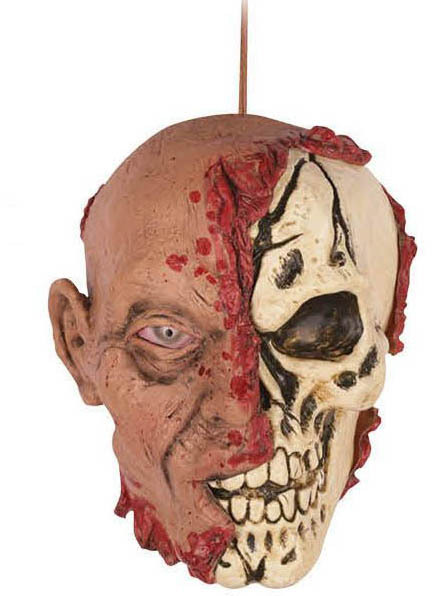 DECAPITATED HANGING ZOMBIE HEAD