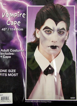 VAMPIRE PVC CAPE - AGES 8 & OVER - SPECIAL SELLOUT