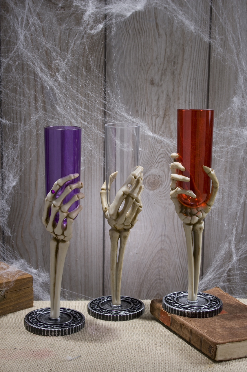 SKELETON HAND CHAMPAGNE GLASS