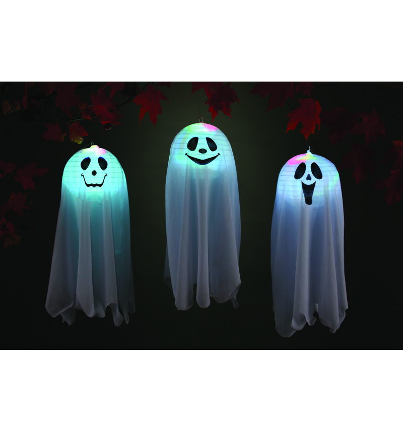 HANGING GHOST POP OPEN COLOUR CHANGING L.E.D LANTERN