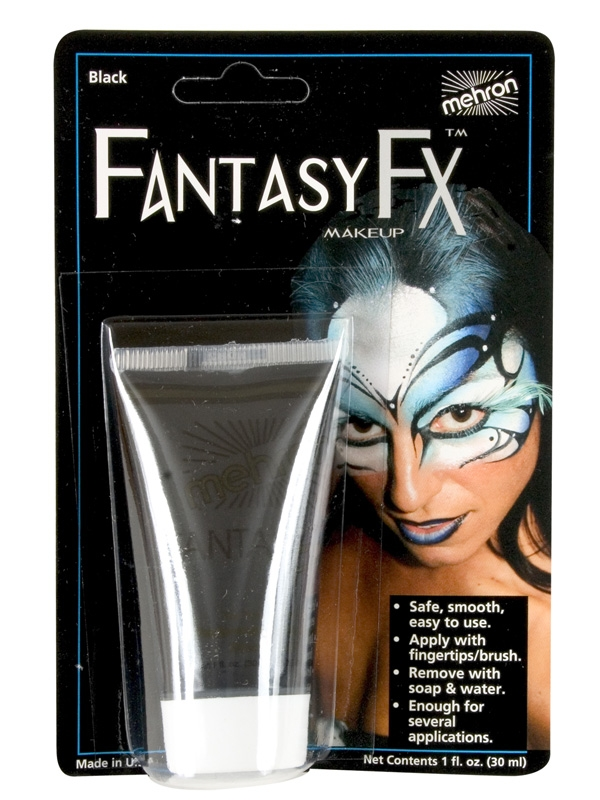 FANTASY FX FACE PAINT MAKEUP BLACK - 30ML