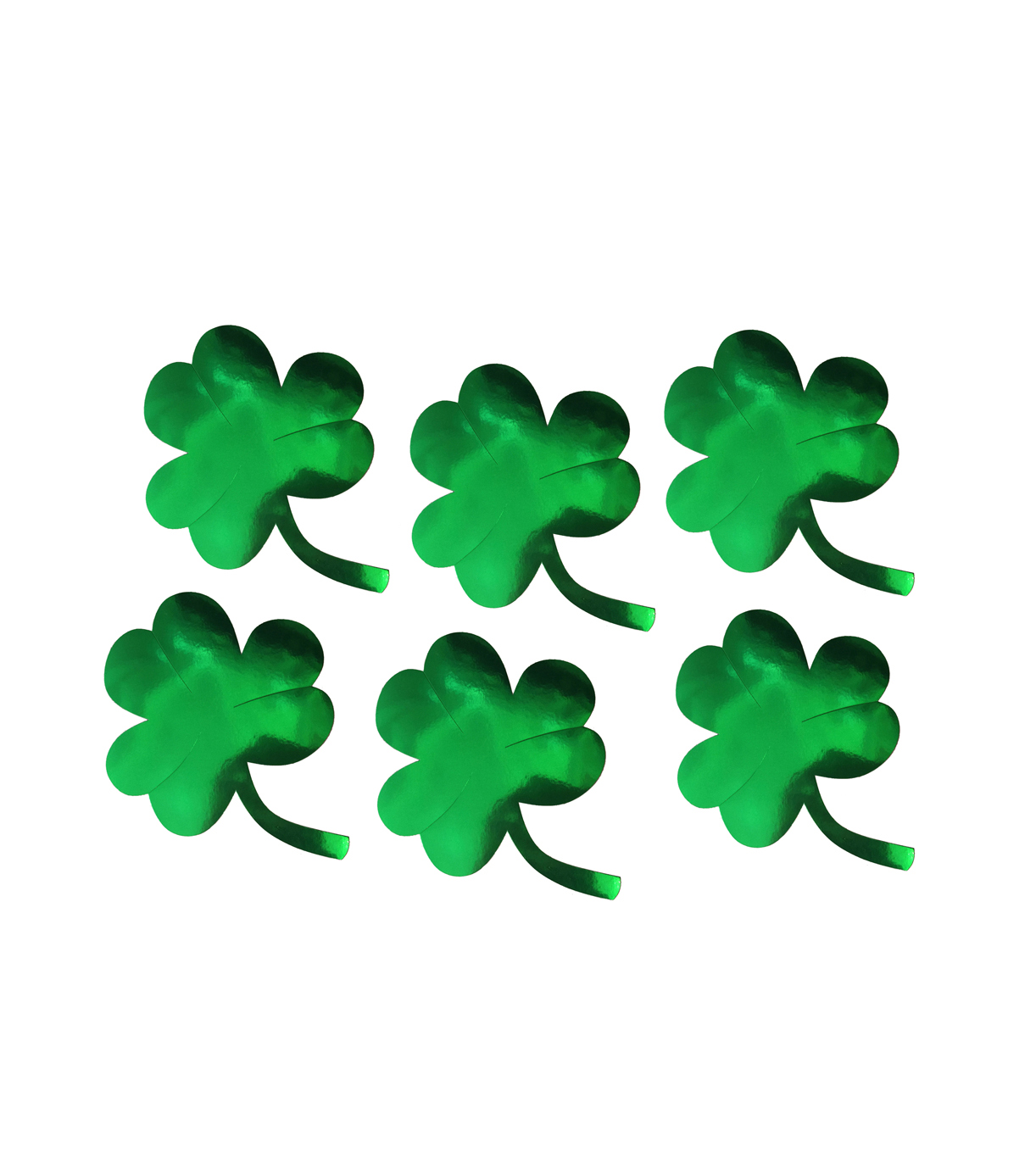 SHAMROCK CUT OUT SILHOUETTES - MEDIUM PACK OF 6