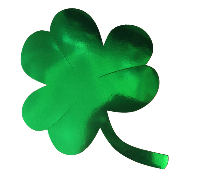SHAMROCK CUT OUT SILHOUETTES - LARGE PACK OF 2