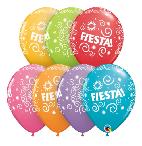 BALLOONS LATEX - FIESTA DESIGN PACK 25