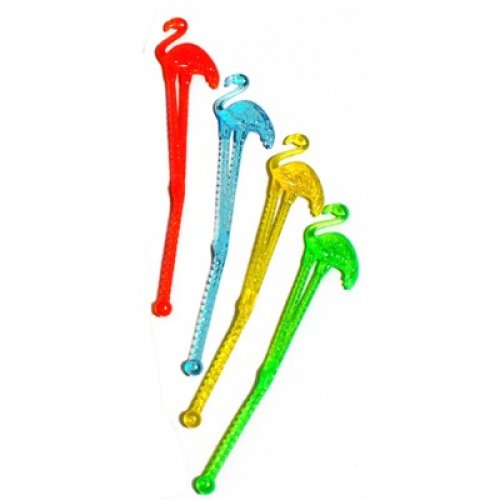 SWIZZLE STICKS FLAMINGO TOP - BULK PACK OF 100