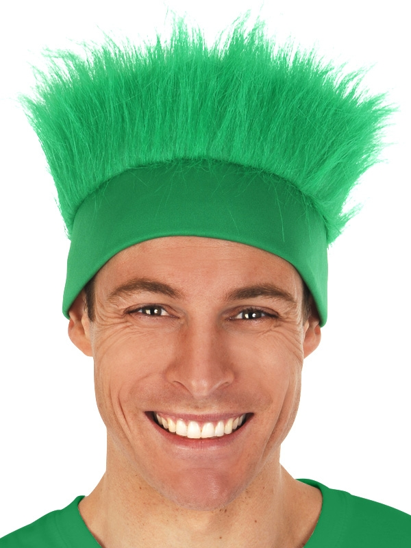 FLUFFY GREEN HEADBAND